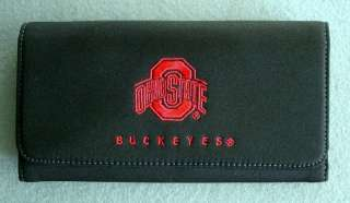 The Ohio State University OSU Buckeye logo Checkbook Cover/Clutch