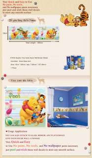 DT 35 DISNEY POOH Kids Vinyl Wall Decals Border Sticker