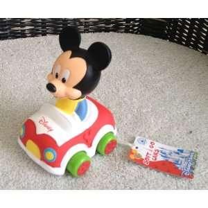 Disney Park Mickey Mouse Vinyl Toy Car NEW Wheels Turn