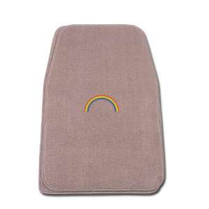Universal Fit Front Two Piece Floormat with RAINBOW Logo Automotive