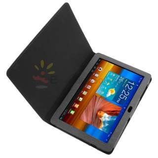 For Samsung Galaxy Tab 10.1 P7500 Black Leather Soft Case Pouch With