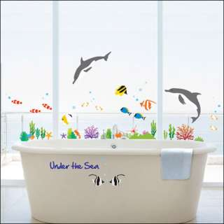 UNDER THE SEA Home Art Deco Mural Wall Sticker KR 36