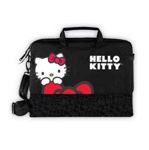 NEW*HELLO KITTY PADDED NOTEBOOK LAPTOP COMPUTER CASE BAG *w/SHOULDER