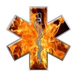 Star of Life EMT EMS Inferno 12 Reflective Decal