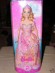 NEW 2009 Collectible Princess Barbie Doll *Blonde*Pink*