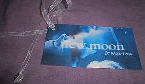 Handmade Twilight saga New Moon inspired bookmark