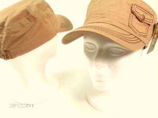 Womens Military Army Cadet Hat POCKET Cap 1 size Newsboy Purple Black