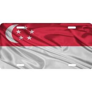 Rikki KnightTM Singapore Flag Cool Novelty License Plate