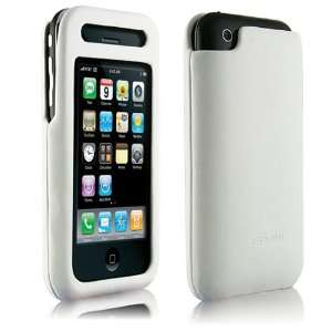 Signature Leather Case for iPhone 3G, White Napa