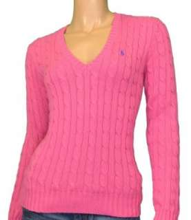 Polo Ralph Lauren Womens V neck Cable Sweater Clothing