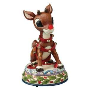Jim Shore, Rudolph Light Up Musical Home & Kitchen