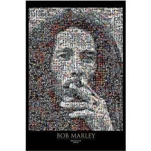 Bob Marley Photomosaic Giant Subway Poster 40 x 60 Aprox