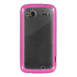 Candy hot pink case with clear backing for the HTC