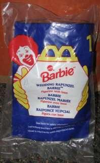 1996 McDonalds Wedding Rapunzel Barbie Happy Meal Toy #1