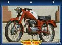 FB MONDIAL 125 SPORT 1955 Motorcycle BIG card MOTO