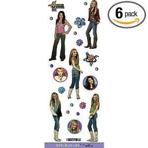 Hannah Montana Stickers, 1 Sheet (Pack of 6) Health