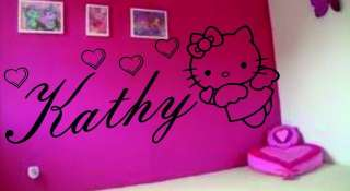 HELLO KITTY ANY NAME WALL ART STICKER BIG 110cm