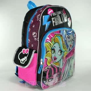 Monster High Fabulous 16 Large Backpack   Book Bag School Girls
