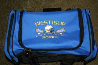 PERSONALIZED LACROSSE DUFFEL BAG EMBROIDERED