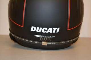 DUCATI JET SET HELMET MOMO DESIGNS MATTE BLACK HELMET 3/4 XTRA LARGE