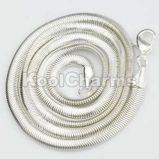 Wholesale Fashion Silver Herringbone chain Necklace 16 24 inch