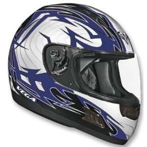 Vega Blue Stryker Graphic Altura Full Face Helmet Sports