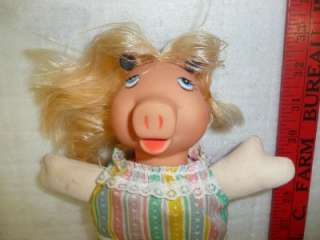 miss piggy doll action figure from the muppets stuffed