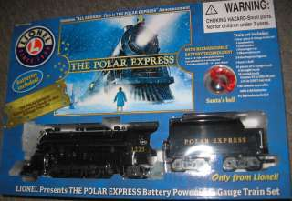 Polar Express Lionel Model Christmas Holiday Toy Train Set G Gauge NEW