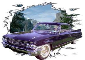 You are bidding on 1 1961 Black Cadillac Custom Hot Rod Mountains