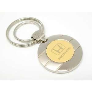 Round Metal Honda Logo Car Keychain Automotive