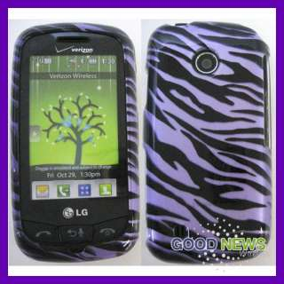 for Verizon LG Cosmos Touch VN270   Purple Zebra Hard Case Phone Cover