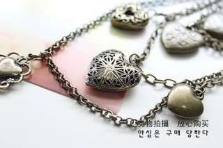 Korean Jewelry Retro Vintage Style Multilayer Lovely Cute Love Heart