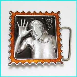 MICHAEL JACKSON On Stamp Belt Buckle MU 080BR