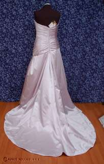 Impression 6803 Mauve Purple Satin Strapless Wedding Formal Dress 16