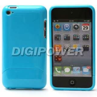 BLUE 2 PIECES CASE COVER SKIN FOR IPOD TOUCH 4 4G