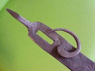 Antique Wrought Iron Western Folk Art Iron Clasp Latch