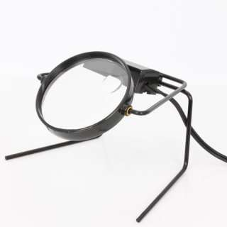 MAGNIFIER MAGNIFYING GLASS ON STAND LIGHTED TABLE TOP DESK LAMP