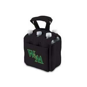 William & Mary Tribe Black Six Pack Insulated Cooler