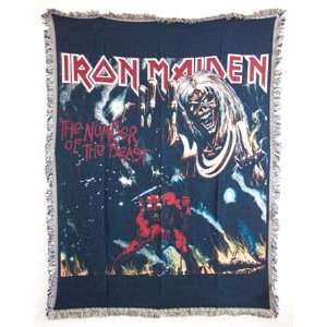 Iron Maiden Heavy Metal Rock Number of the Beast Throw