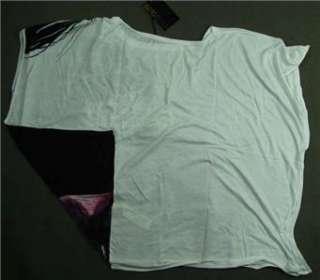 New Roberto Cavalli Womens Print Loose Shirt Sz.S L white