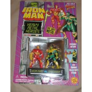 Iron Man Vs. Mandarin Die Cast Metal Poseable Figures Toys & Games
