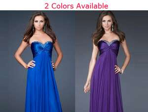 formal long evening banquet party dress ball gown Blue/Purple JK