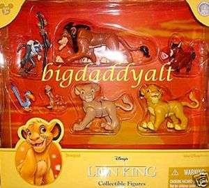 Disney World Lion King Simba Nala Playset Figurine Topper Set