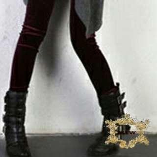 Sz S M L XL New Cotton Velvet Thermal fashion Skinny Pencil Dark Red