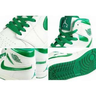 NIKE AIR JORDAN 1 RETRO HIGH Mens White Sea Green Basketball Shoes