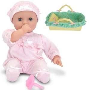 Melissa & Doug Jenna Doll and Manhattan Toy Baby Basket