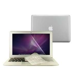 in 1 Rubberized CLEAR Hard Case Cover And Transparent TPU Keyboard