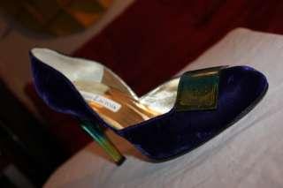 CHRISTIAN LACROIX Purple Velvet Stiletto Heel Shoes 8