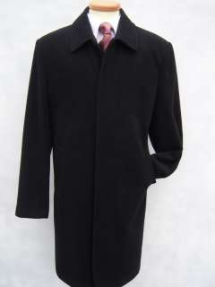 MENS BIG SIZES BLACK WOOL OVERCOAT COAT COATS 48 50 52 54 56 58 2XL