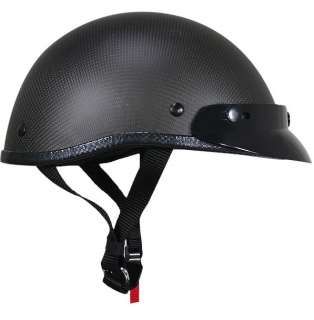 REAL CARBON FIBER Motorcycle Half Helmet LOW PROFILE Matte FLAT Outlaw